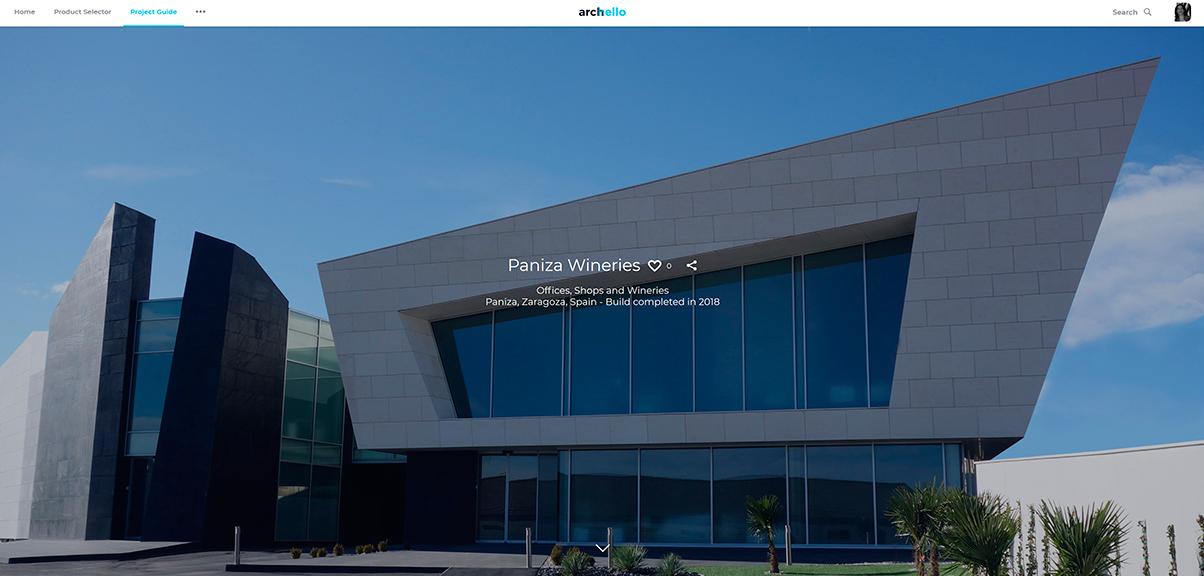 Bodegas Paniza. Publicación de arquitectura corporativa, proyecto de diseño de empresas